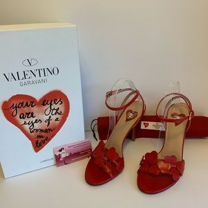 Valentino L'Amour heart sandals